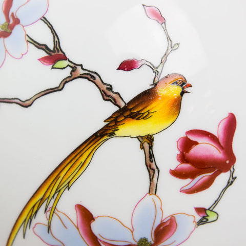Large Pet Ceramic Cremation Urn - Golden Bird
