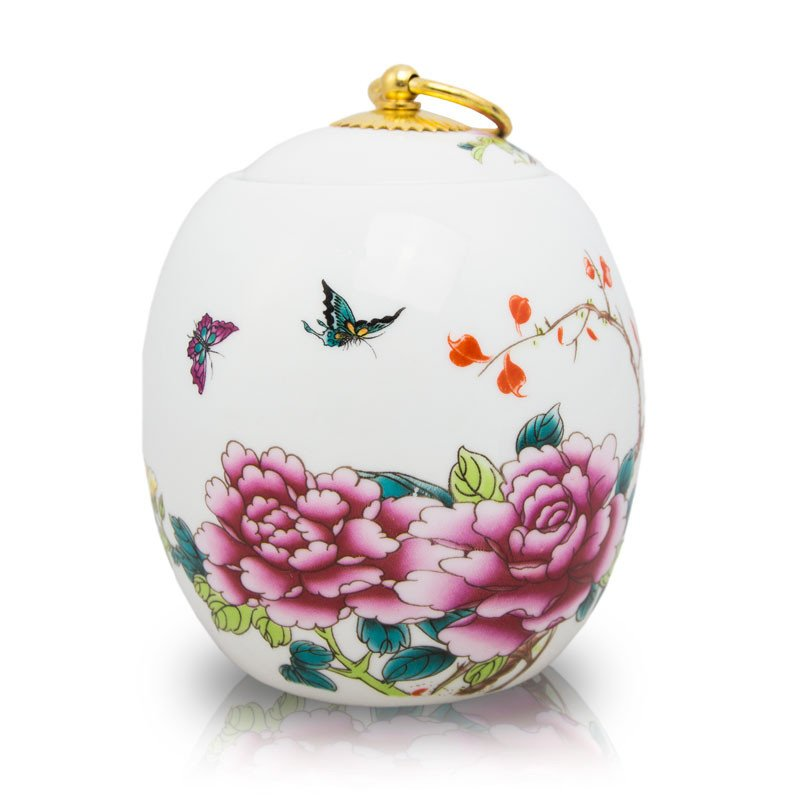Large Butterfly Ceramic Cremation Urn