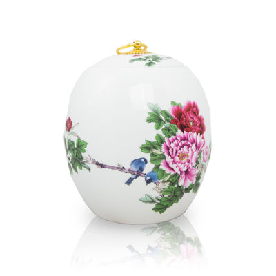 Pink Peony Ceramic Cremation Urn - Small
