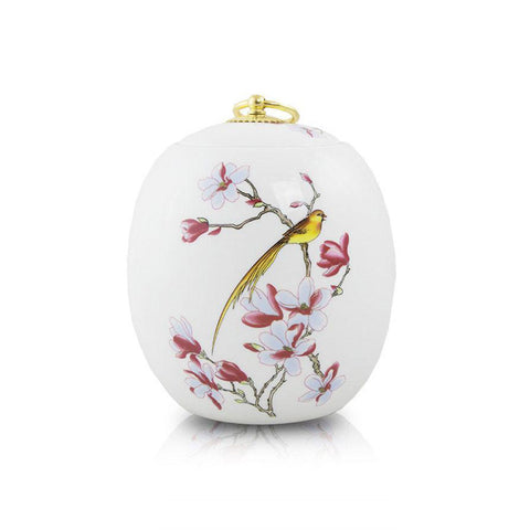Golden Bird Ceramic Urn - Extra Small