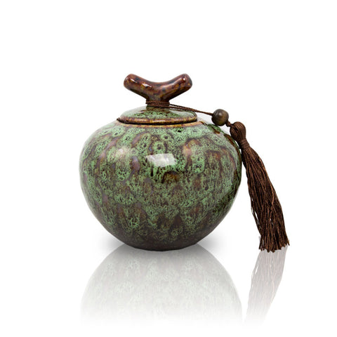 Moss Green Ceramic Keepsake Urn
