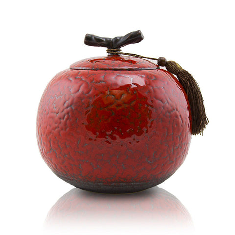 Large Cherry Ceramic Cremation Urn