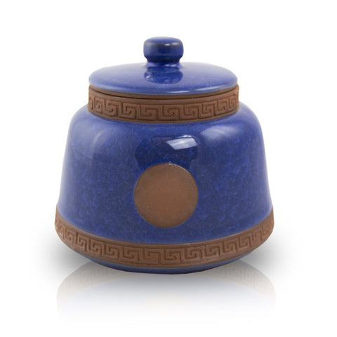 Azure Ceramic Pet Urn - Small