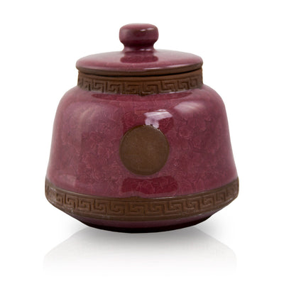 Ruby Ceramic Pet Urn - Small