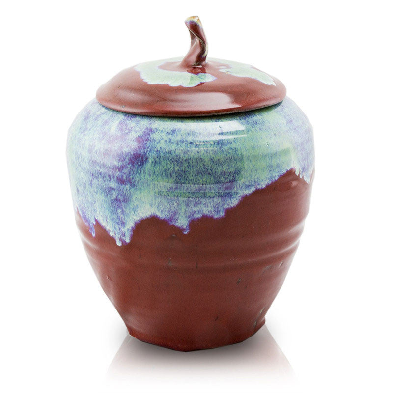 Rustic Ruby Ceramic Cremation Urn