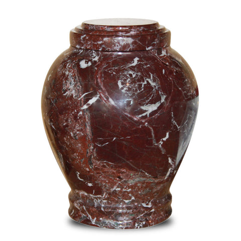 Savannah Red Marble Cremation Urn