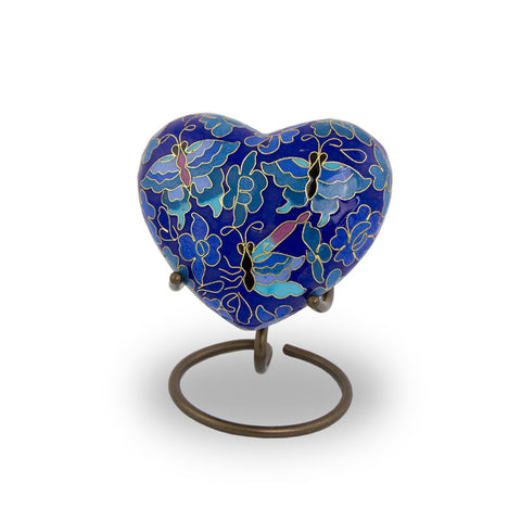 Etienne Butterfly Cremation Keepsake Heart
