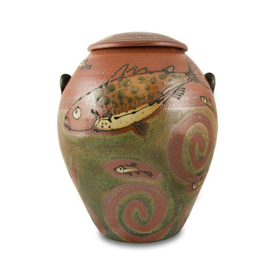 Homeland Trout Ceramic Cremation Urn