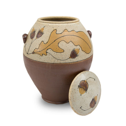 Autumn Acorn Ceramic Cremation Urn