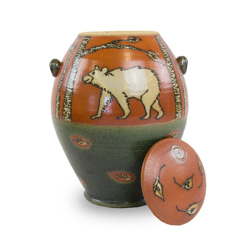 Bear Ceramic Cremation Urn