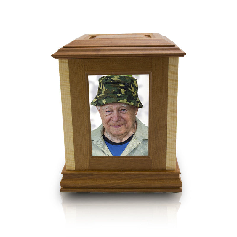 Funeral Home Rental Wooden Cremation Photo Urn
