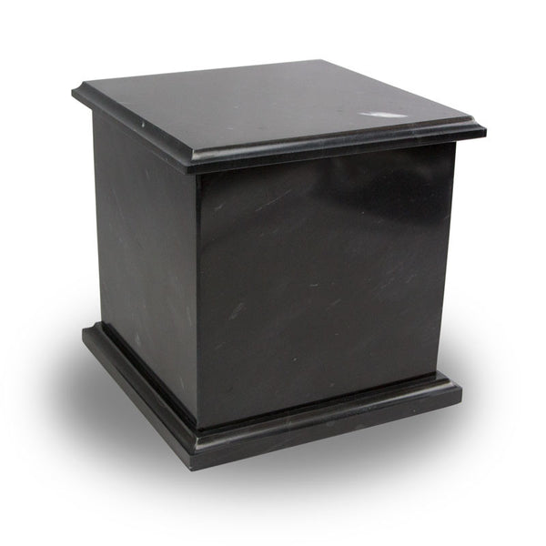 Genuine Marble Box Cremation Urn - Black