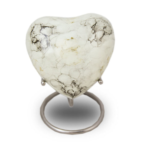 Glenwood Heart Cremation Keepsake - White