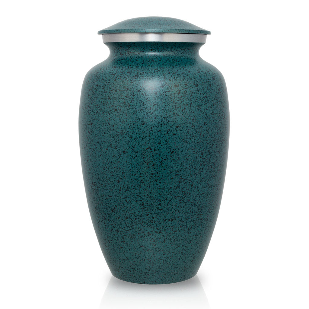 Two-Tone Green Classic Cremation Urn - Large