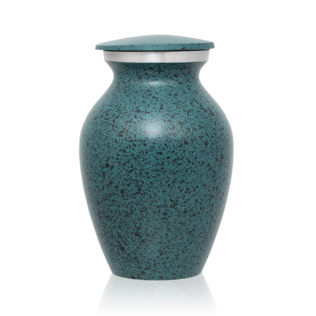Two-Tone Green Classic Cremation Urn - Keepsake