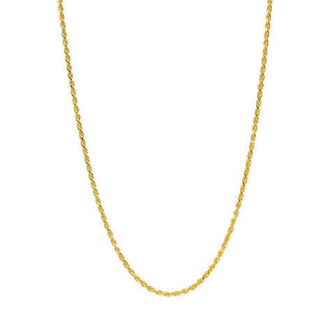Gold Vermeil Rope Chain - 20 Inches