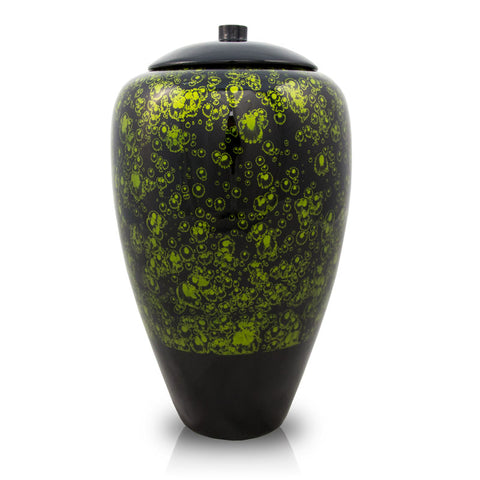 Tall Bamboo Cremation Urn- Green