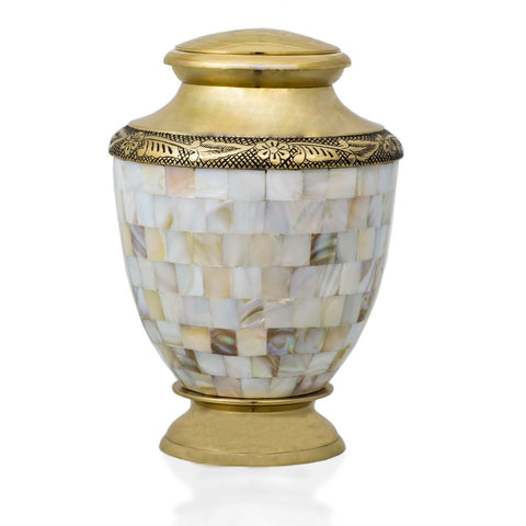 Mother of Pearl Bronze Cremation Urn