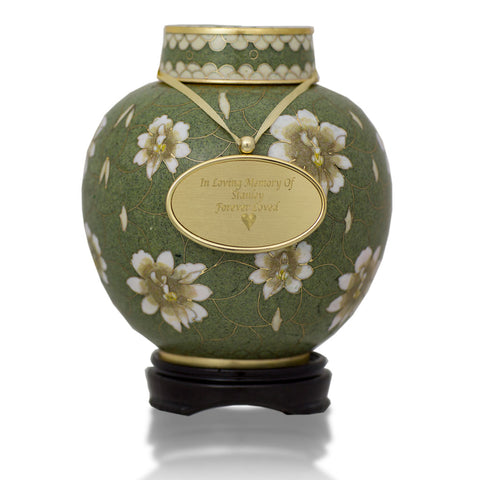 Small Pear Blossom Cloisonné Cremation Urn