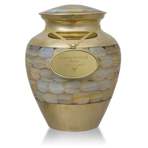 Mother of Pearl Cremation Urn - Small