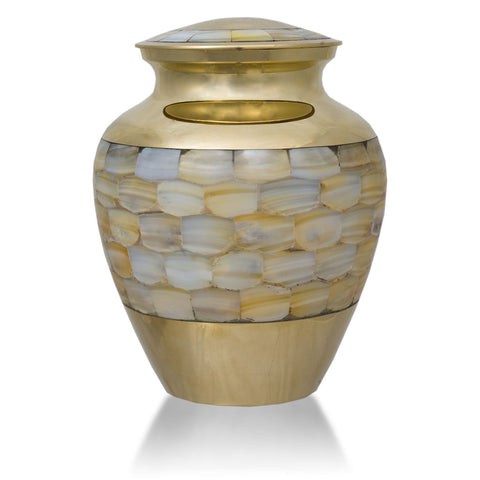 Mother of Pearl Cremation Urn - Medium