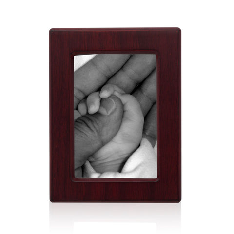 Infant Cremation Photo Urn - Cherry MDF