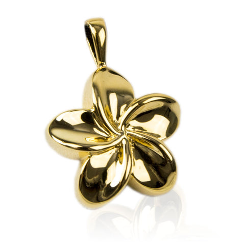 Gold Flower Cremation Urn Pendant