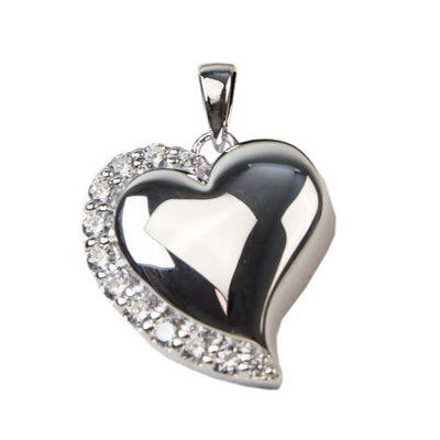 Madelyn pendants madelyn cremation jewelry oneworld memorials crystal heart cremation pendant sterling silver aloadofball Image collections