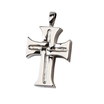 Sterling Silver Cross Cremation Urn Pendant