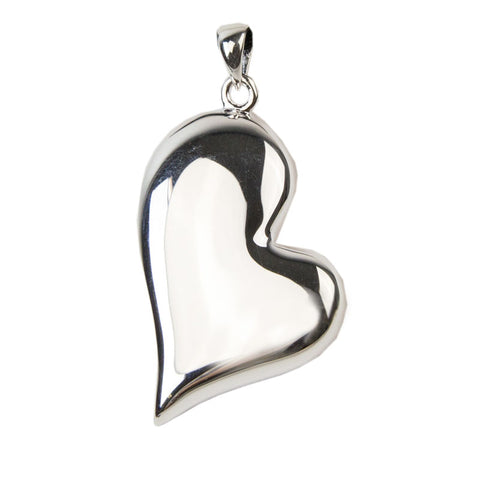 Teardrop Heart Cremation Necklace - Sterling Silver