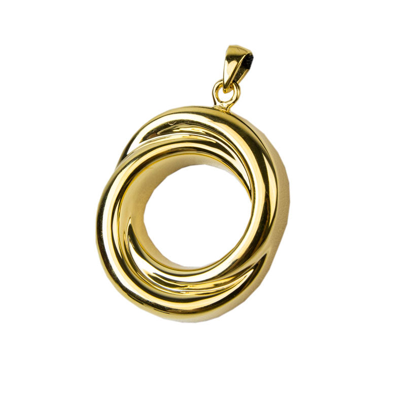 Circle of Love Companion Cremation Necklace - Gold Vermeil