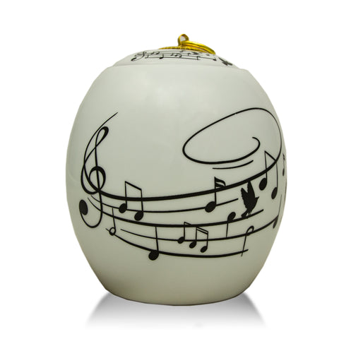 Large Ceramic Cremation Urn - Songbird