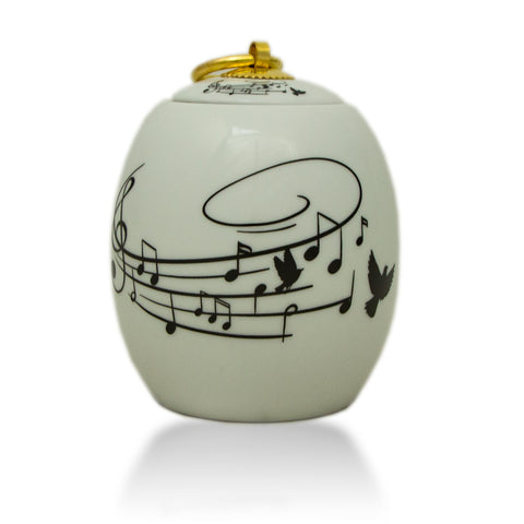 Extra Small Ceramic Cremation Urn - Songbird