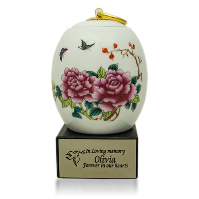Butterfly Ceramic Cremation Urn - Extra Small