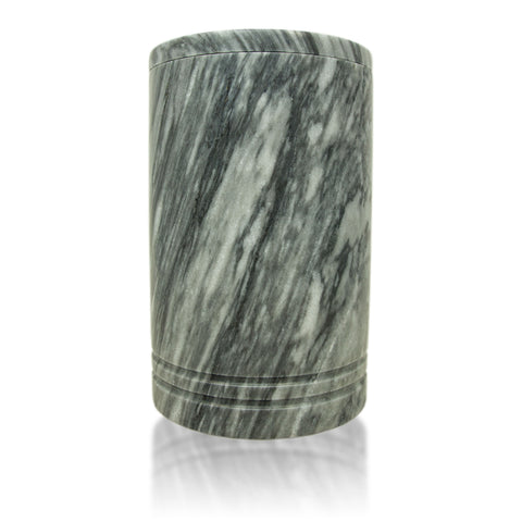 Tuscan Gray Genuine Marble Cremation Urn - Hand Carved