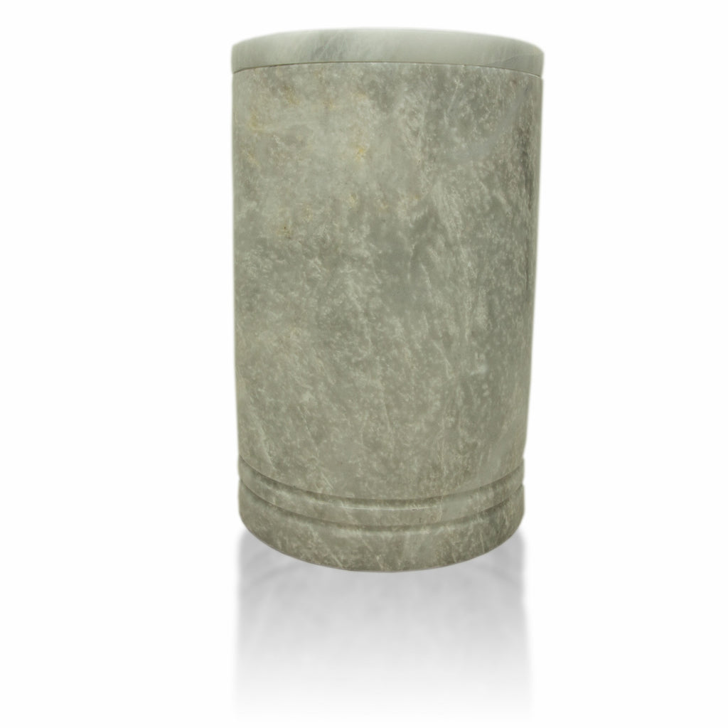 Tuscan Pearl Genuine Marble Cremation Urn - Hand Carved