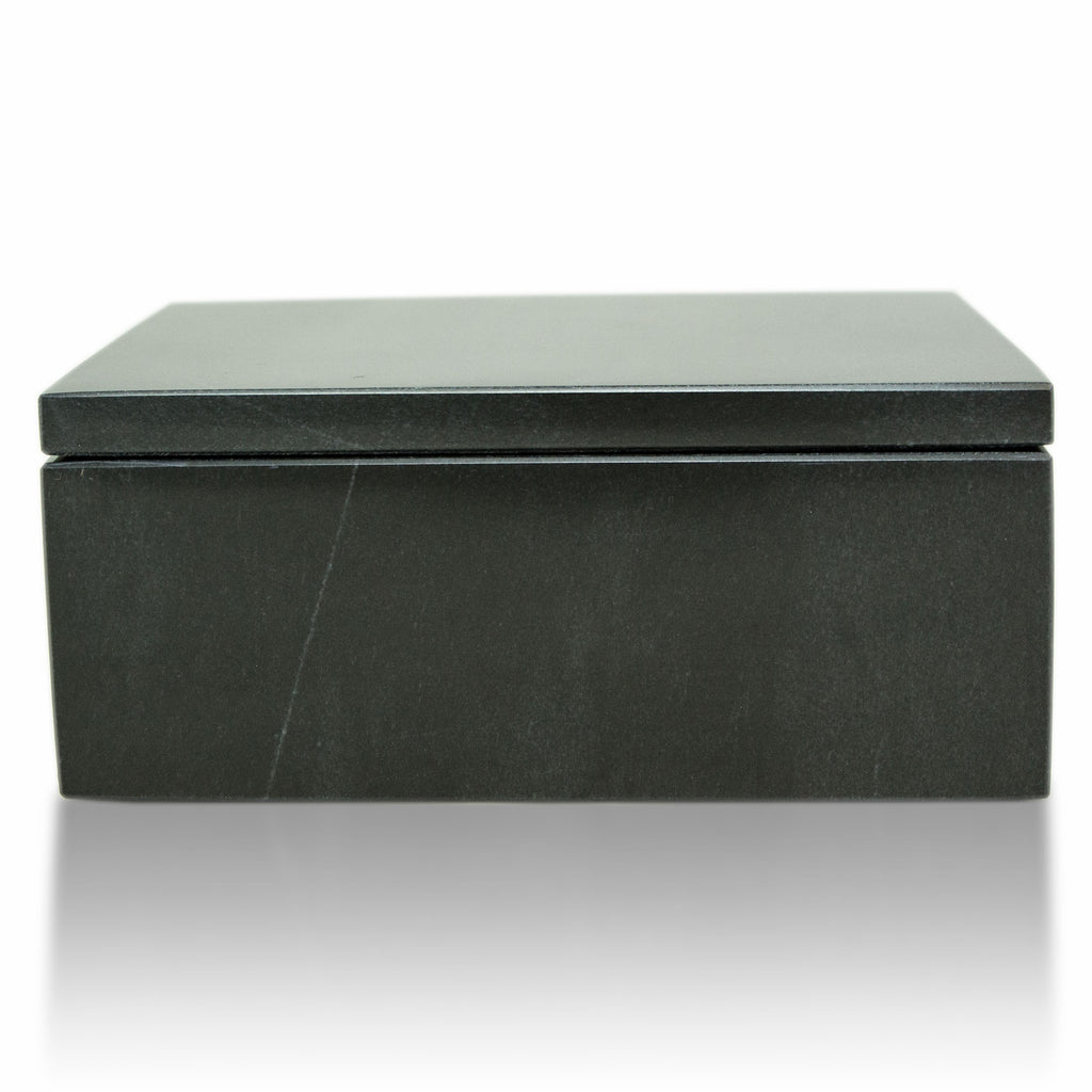 Midnight Marble Cremation Urn Keepsake Box - Small