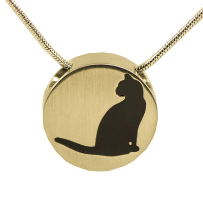 Bronze Cat Cremation Necklace