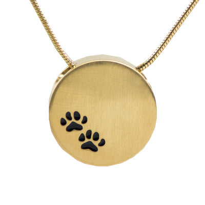 Paw Prints Cremation Necklace - Bronze