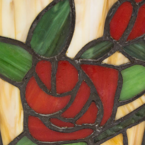 Red Rose Stained Glass Cremation Urn- Medium