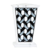 Modern Geometric Stained Glass Cremation Urn - White