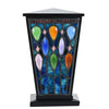 Enchanted Forest Stained Glass Cremation Urn - Black