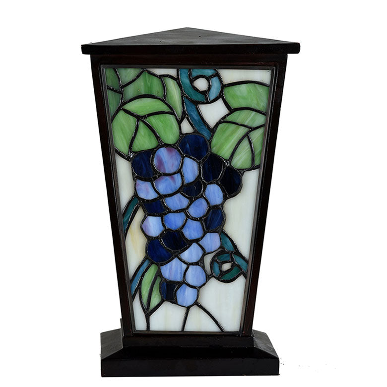 Grapevine Stained Glass Cremation Urn - Brown