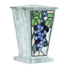 Grapevine Stained Glass Cremation Urn - Jade