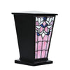 Jeweled Sunset Stained Glass Cremation Urn - Black
