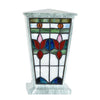 Sky Flowers Stained Glass Cremation Urn - Jade