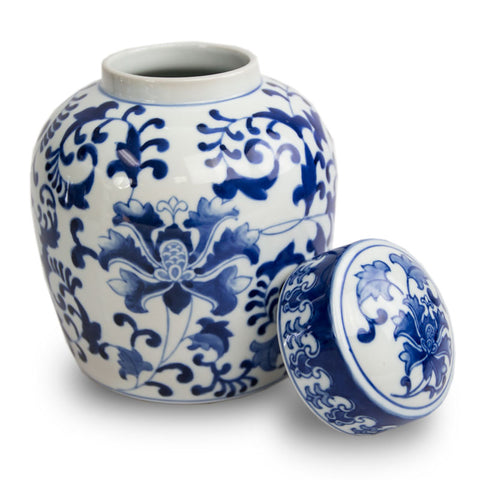 Ceramic Cremation Urn - Exotic Blue