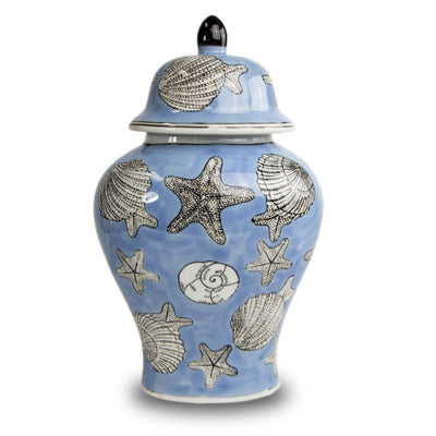 Seashell Mosaic Temple Cremation Urn