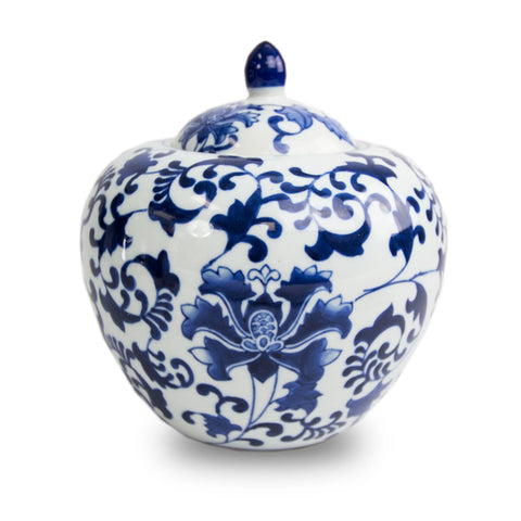 Ceramic Dynasty Cremation Urn - Flourishing Blue