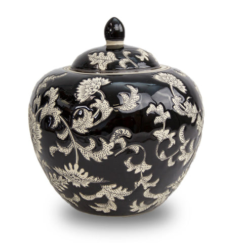 Black Lotus Dynasty Cremation Urn